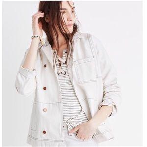 Madewell women's White Jean Jacket